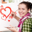 Female painter — Stock Photo #8410408