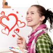 Female painter — Stock Photo #8576823