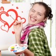 Female painter — Stock Photo #8576933