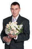 Portrait of groom — Stock Photo