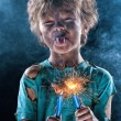 Crazy little electrician — Stock Photo #9059105