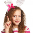 Girl with bunny ears — Stock Photo #9060698