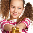 Girl with gift box — Stock Photo #9060776