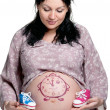 Stock Photo: Tummy with drawing