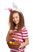 Garota com orelhas de coelho — Foto Stock