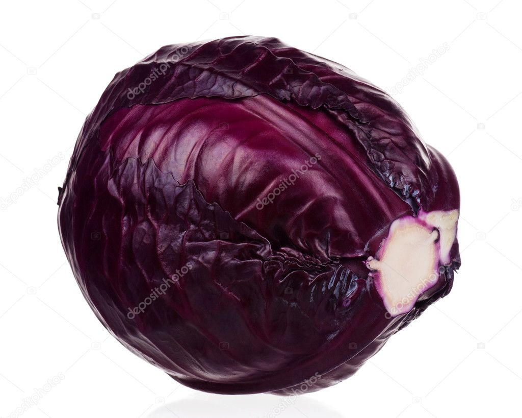 Fresh red cabbage vegetable on white background — Stock Photo #9358274