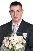 Portrait of groom — Stock Photo