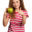 Girl with apple — Stock Photo #9581958