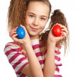 Stock Photo: Girl with eggs