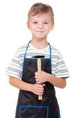 ツールを持つ少年 — ストック写真