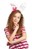 Girl with bunny ears — Stock Photo