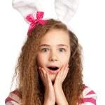 Girl with bunny ears — Stock Photo #9663921
