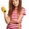 Girl with dumbbells — Stock Photo #9663923
