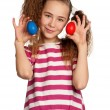 Girl with eggs — Stock Photo #9663952