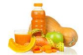 Carrot, pumpkin and apple juice — Stock Photo