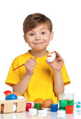 Children with Easter eggs — Stock Photo
