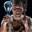 Crazy electrician — Stock Photo #9961657