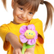 Girl with flower — Stock Photo #9963465