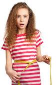Flicka med åtgärd — Stockfoto
