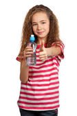 Girl with water — Stock Photo