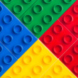 Plastic building blocks — Stock Photo #10430373
