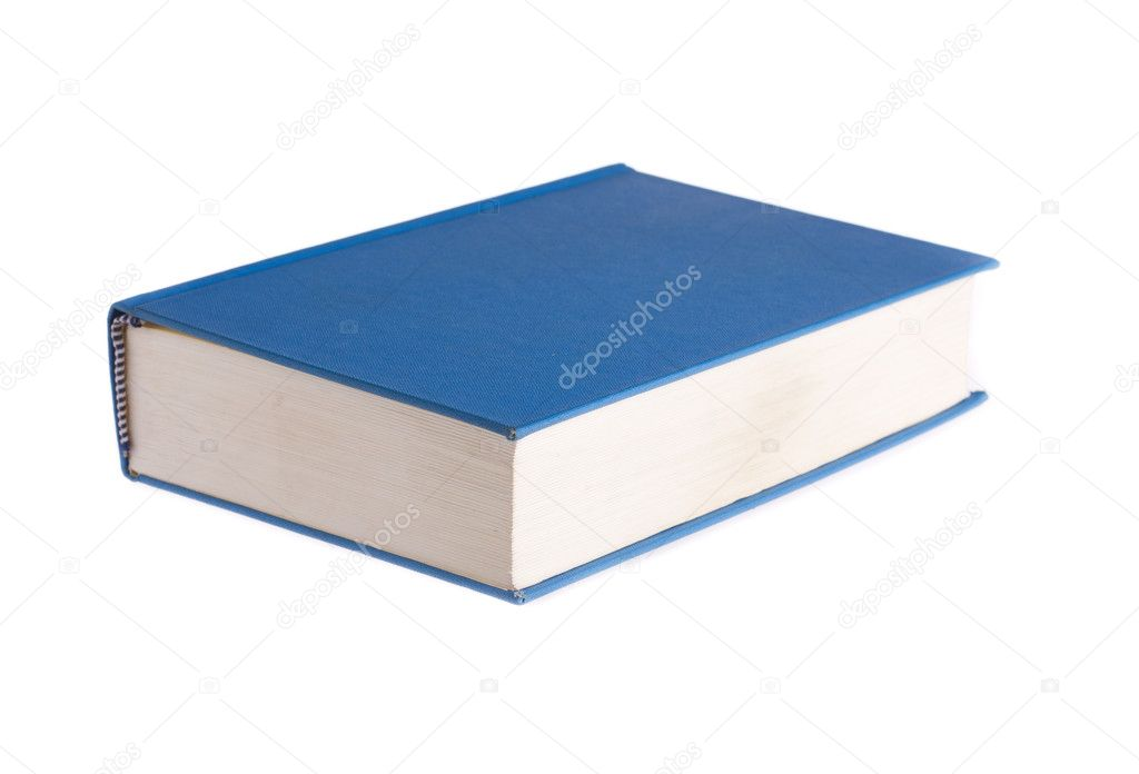 Blue book isolated on white background  Stock Photo #10573947