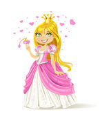 Cute fairy-tale Princess with a love potion — 图库矢量图片