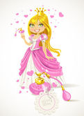 Pretty Princess with a love potion — Stock Vector