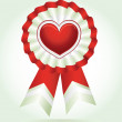 Heart award — Stock Vector