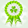 Pretty clover award on St. PatricK`s Day — Stock Vector