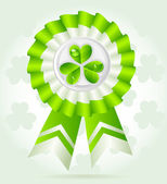 Pretty clover award on St. PatricK`s Day — Stock vektor
