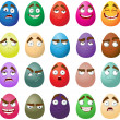 Happy easter smiling eggs — Stock Vector