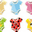 Stok Vektör: Cute colorful costumes for babies