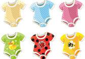 Carini costumi colorati per bambini — Vettoriale Stock