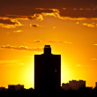 Silhouettes of houses in the Evening. Moscow — Stock Photo