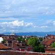 Roofs of Sofia in the summer. Bulgaria — Stock Photo