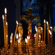 Candles in the Church — 图库照片