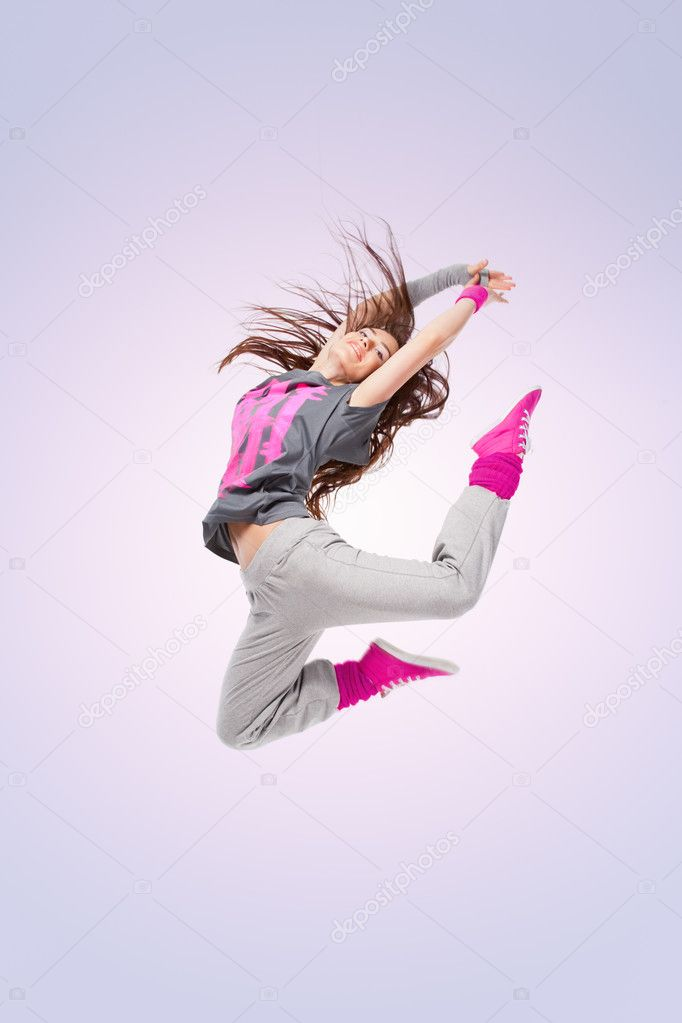 Hip Hop Dance Group Poses Hip-hop dancer girl posing