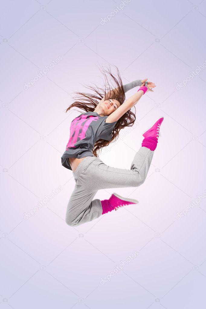 Cool Hip Hop Dance Poses Hip-hop dancer girl posing