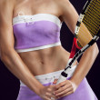 Sexy woman tennis player - Stock Photo