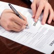 Signing contract — Stock Photo #9017803
