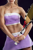 Sexy woman tennis player — Stock Photo