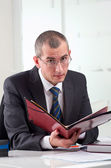 Lawyer on his workplace — Stock Photo