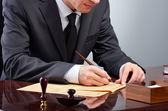 Podpisanie testamentu — Zdjęcie stockowe