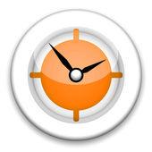 Orange Clock — Stock Photo