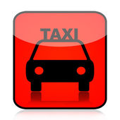 Taxi red sign — Stock Photo
