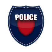Policejní štít — Stockfoto