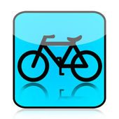 Blue Bicycle Sign — Stockfoto