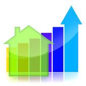 граф бизнес недвижимости — Стоковое фото