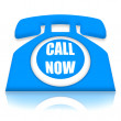 Call Now Telephone - Stock Photo